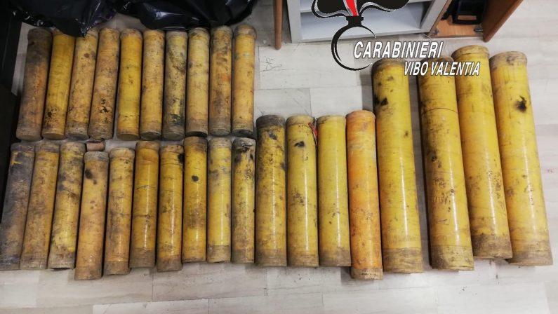 Materiale esplosivo a casa di un ristoratore nel ViboneseSequestro del materiale e denuncia per il 43enne