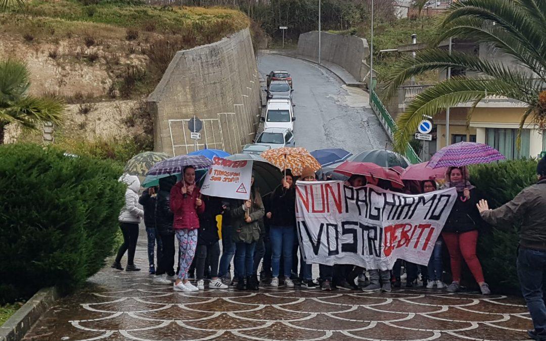 Gli studenti in protesta