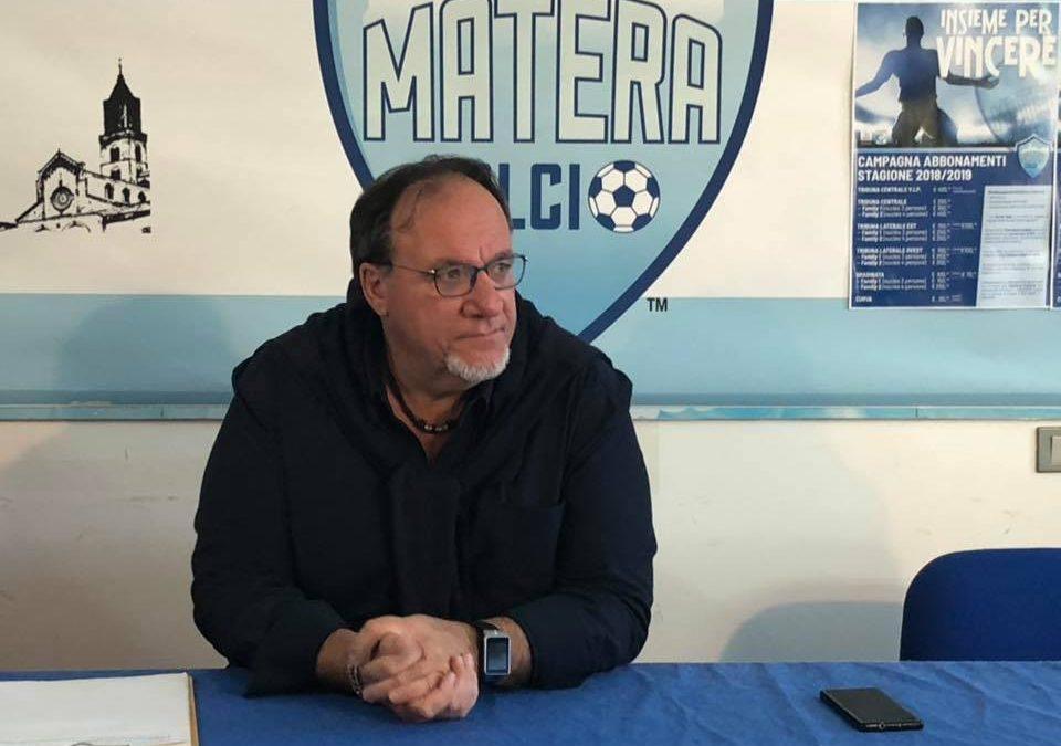 Il presidente del Matera Calcio, Rosario Lamberti
