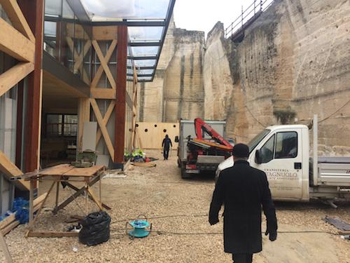 FOTO – Tour esclusivo dentro Cava del Sole, il cantiere-simbolo di Matera 2019