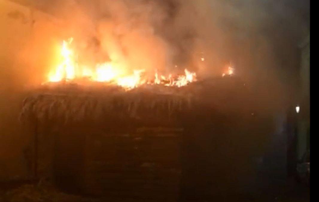 VIDEO – Incendiata la capanna del Presepe vivente nel Catanzarese, indagini