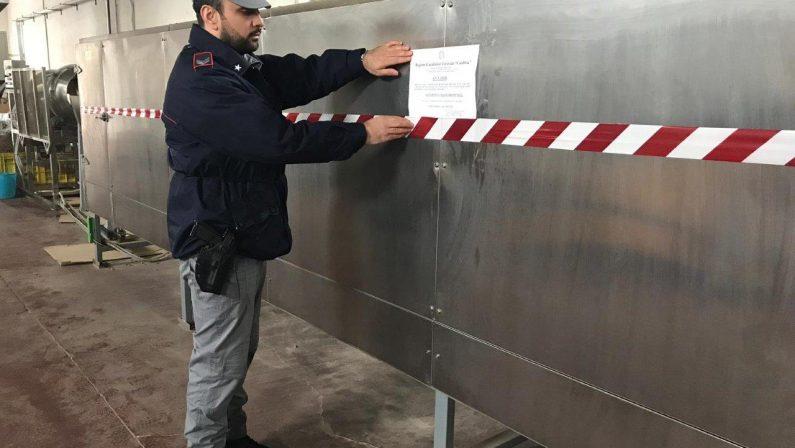 Sequestrata fabbrica per cibo destinato ad animaliL'azienda del Cosentino era priva di autorizzazioni