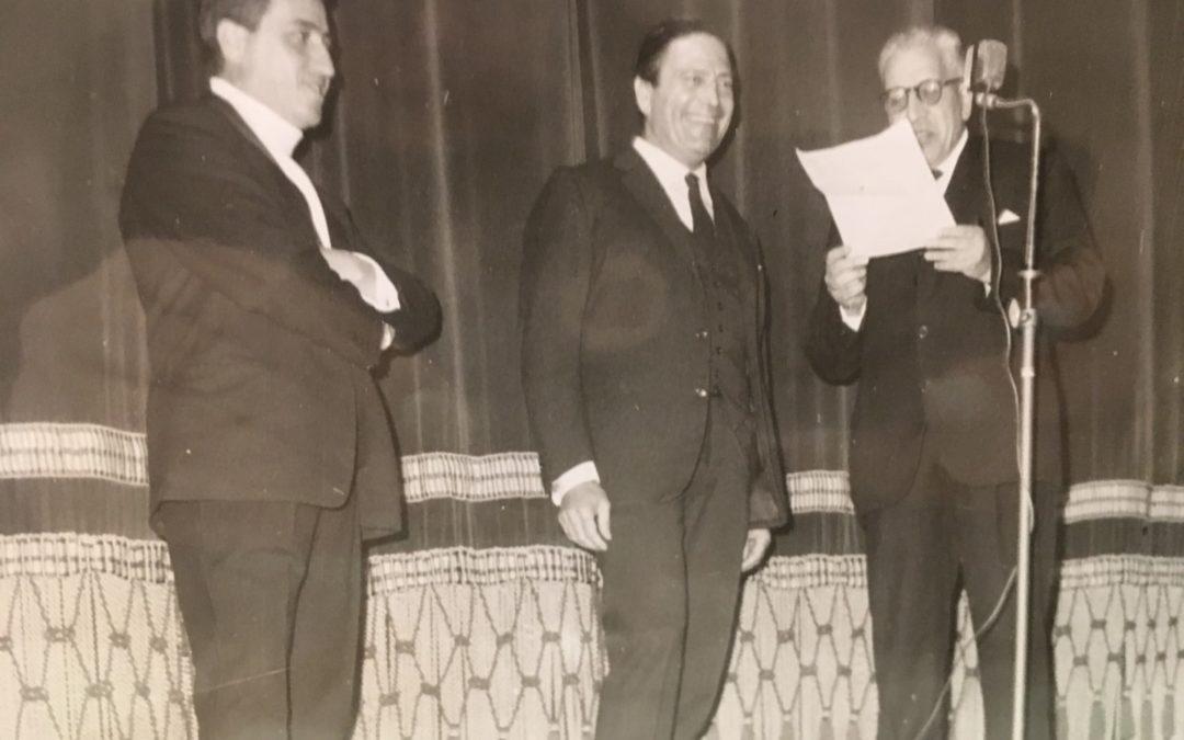 Raf Vallone con sindaco Fagiani