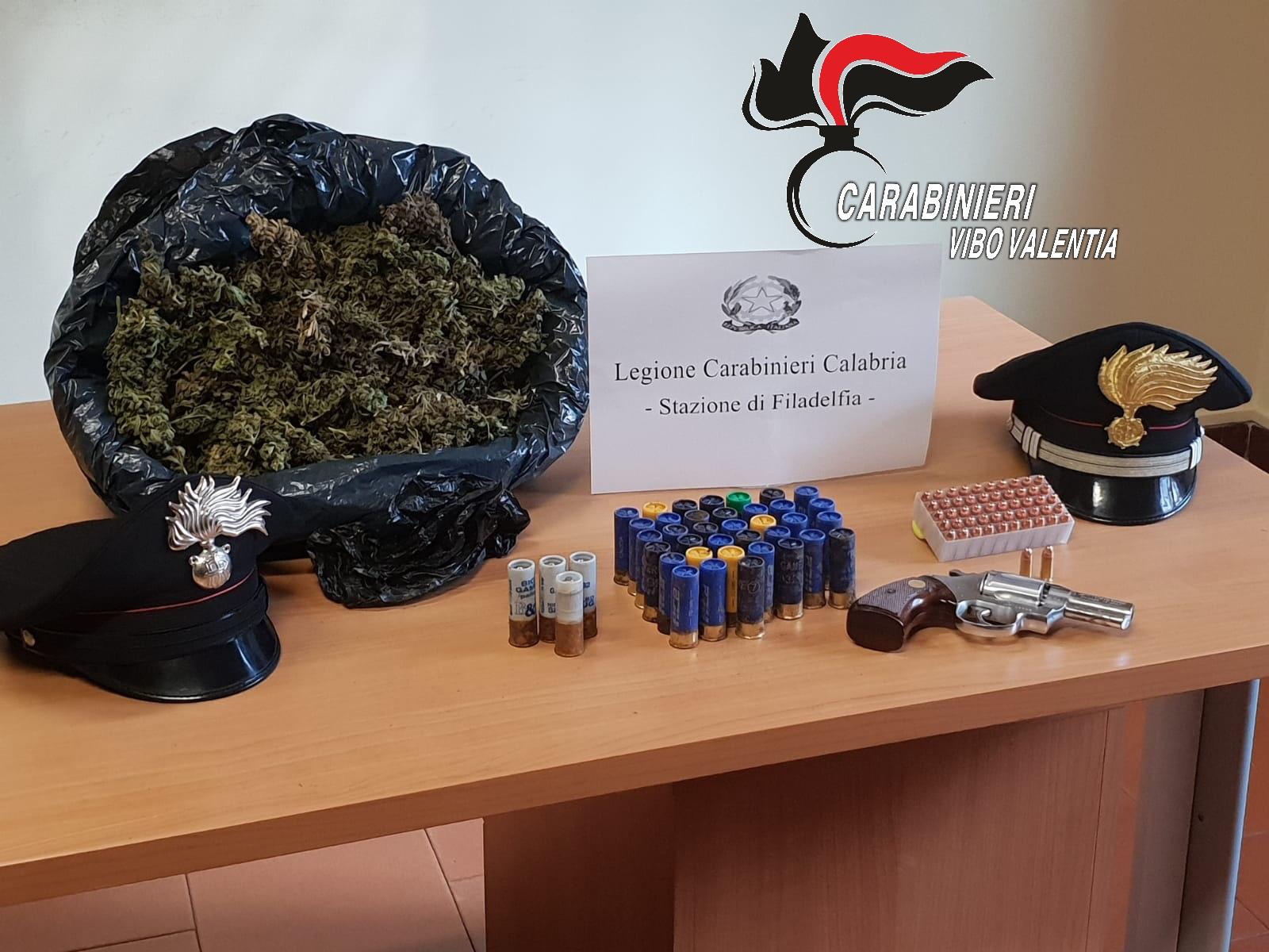 Armi e droga nascosti in un casolare nel viboneseI carabinieri indagano per identificare il proprietario