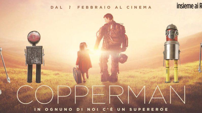 """Le opere di Massimo Sirelli conquistano il cinema  Robot dell'artista catanzarese nel film """"Copperman"""""""