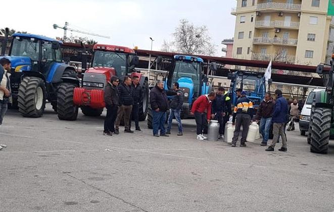 La protesta per il costo del latte si sposta in CalabriaCorteo a Crotone:«Anche peggio della Sardegna»