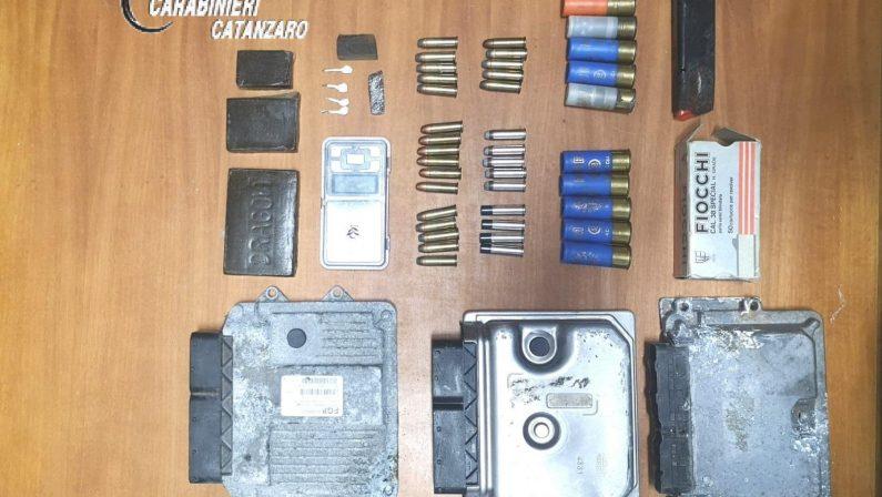 Scoperto un deposito di munizioni varie e drogaEra nascosto a Catanzaro nella zona sud della città