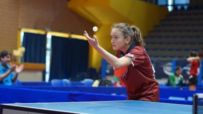Miriam Carnovale argento ai Giochi del Mediterraneo Under 15Impresa sfiorata dalla giovane pongista vibonese