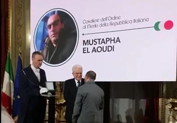Salvò la vita a una dottoressa aggredita all'ospedale di CrotoneMustafa El Aoudi nominato Cavaliere dal presidente Mattarella