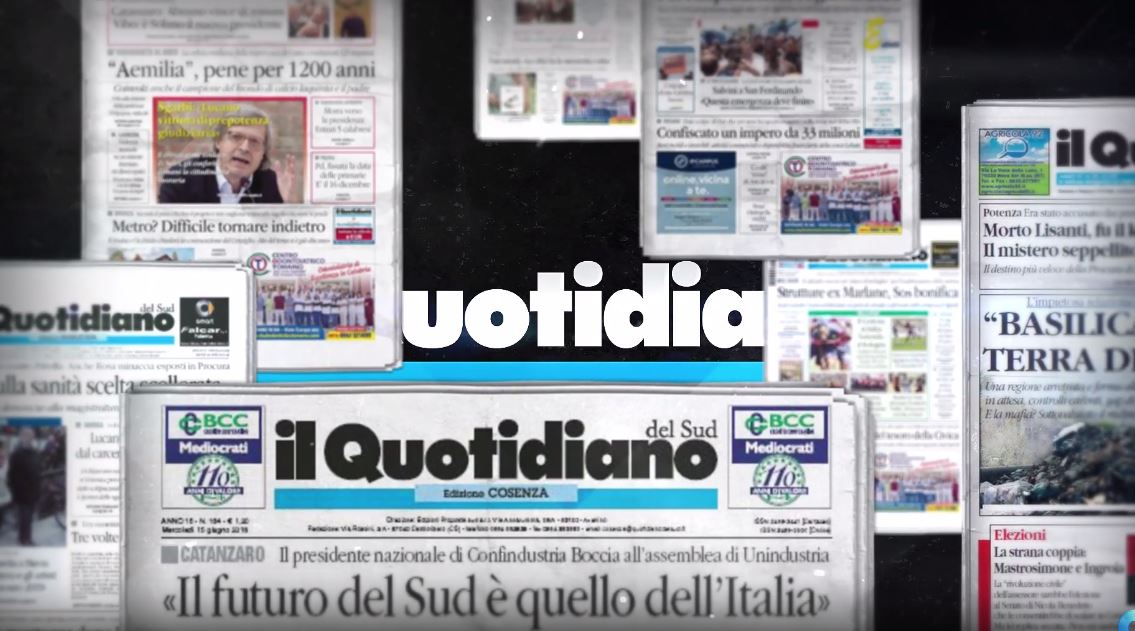 VIDEO – Il Quotidiano del Sud, la tua informazione certificata
