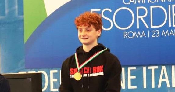 Pesistica, 3 medaglie d'oro per un giovane viboneseIl successo ai campionati nazionali under 13