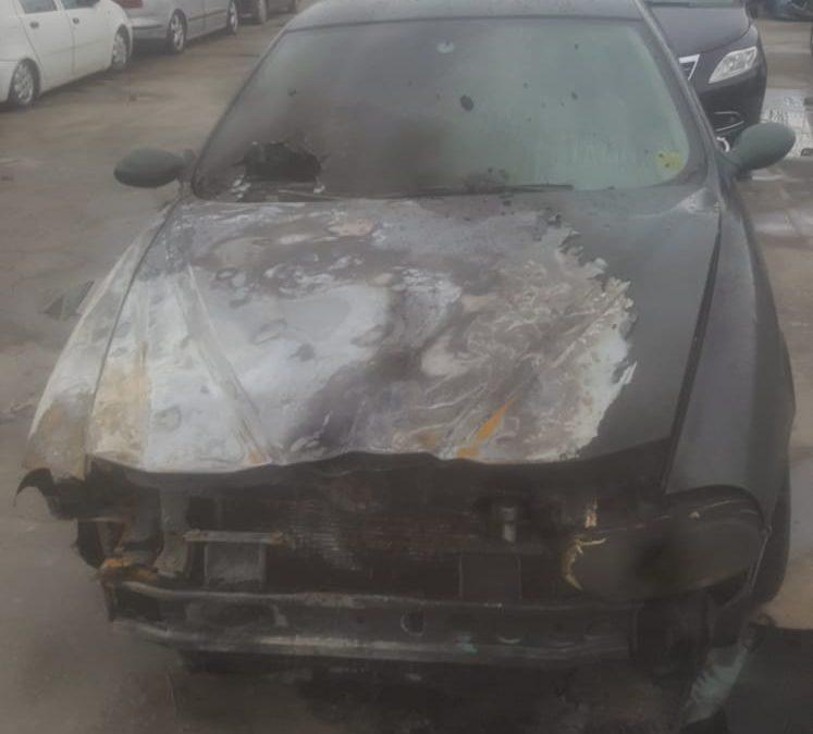 L'auto bruciata di Guido Scarpino