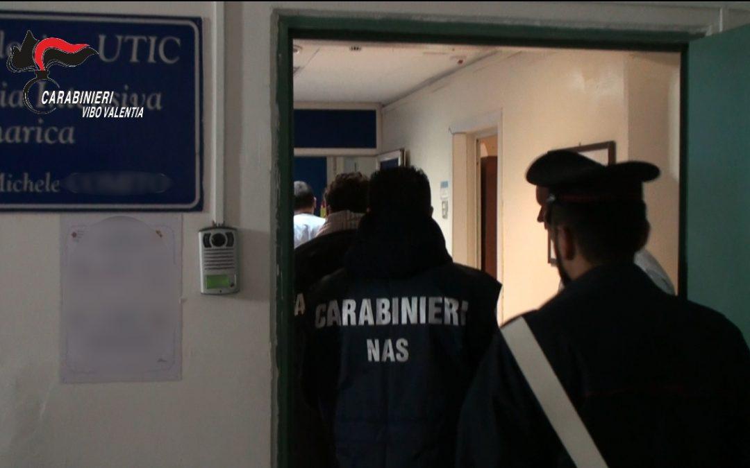 Controlli dei Nas, lo scorso anno, nell'ospedale di Vibo Valentia