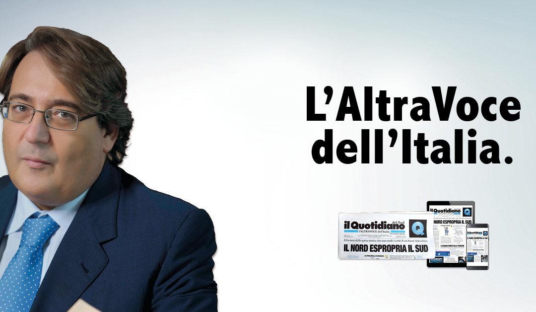 Dal 10 aprile Il Quotidiano del Sud Raddoppia Nasce L'ALTRAVOCE dell'Italia  Un Sud come non l'avete mai letto