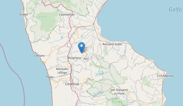 Doppia scossa di terremoto nel CosentinoI due sismi registrati a Santa Sofia D'Epiro