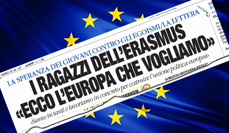LA LETTERA – «Costruire una patria unica per i nuovi cittadini europei»  La risposta di un professore alle aspettative della generazione erasmus