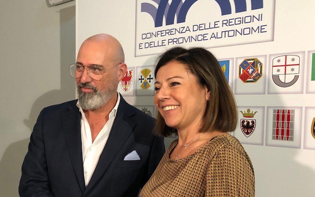 Stefano Bonaccini e Paola De Micheli