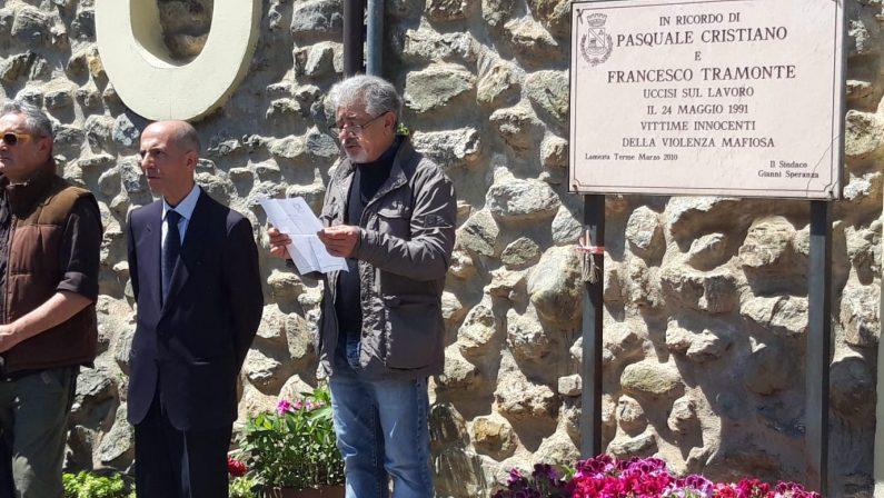 FOTO - Lamezia Terme commemoraPasquale Cristiano e Francesco Tramonte 28 anni dopo il loro omicidio