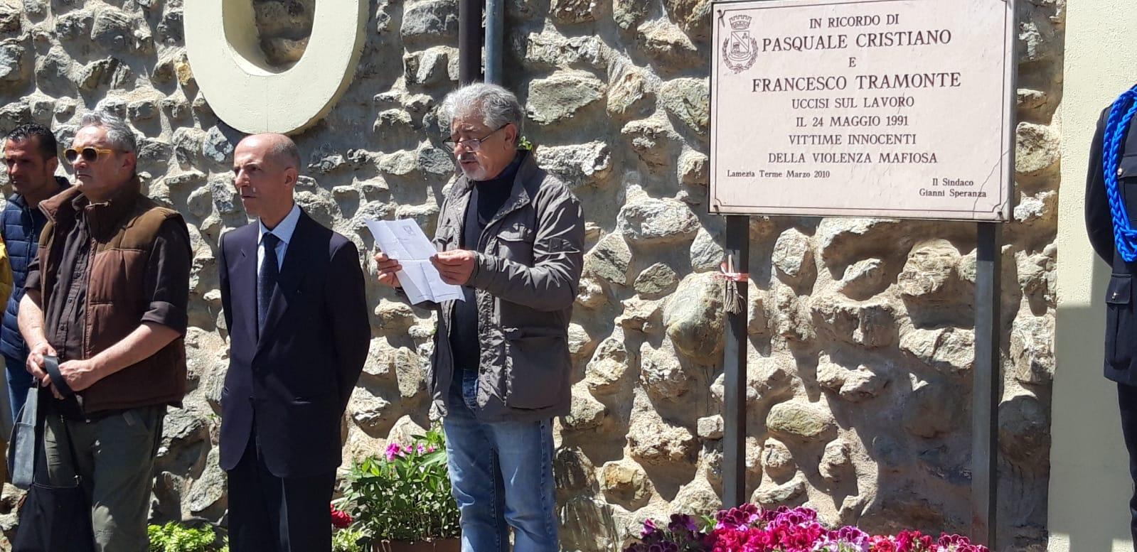 FOTO – Lamezia Terme commemora Pasquale Cristiano e Francesco Tramonte 28 anni dopo il loro omicidio