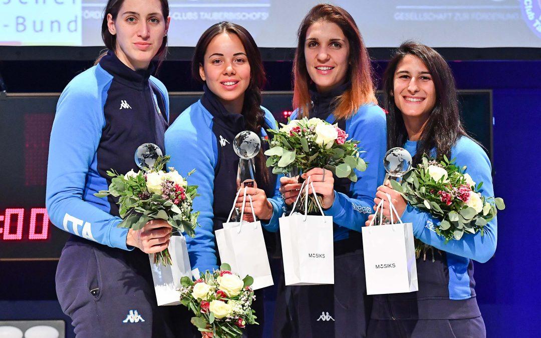 Coppa del mondo di fioretto a squadre, la lucana Palumbo sul podio