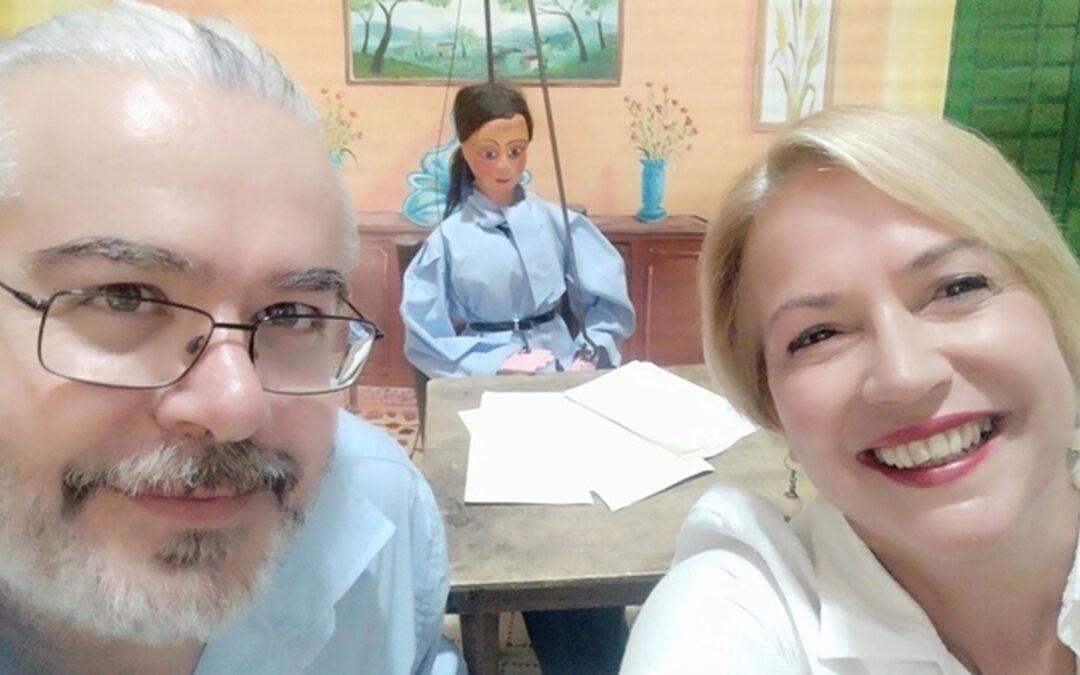 La cantastorie Francesca Prestia e il puparo Angelo Sicilia