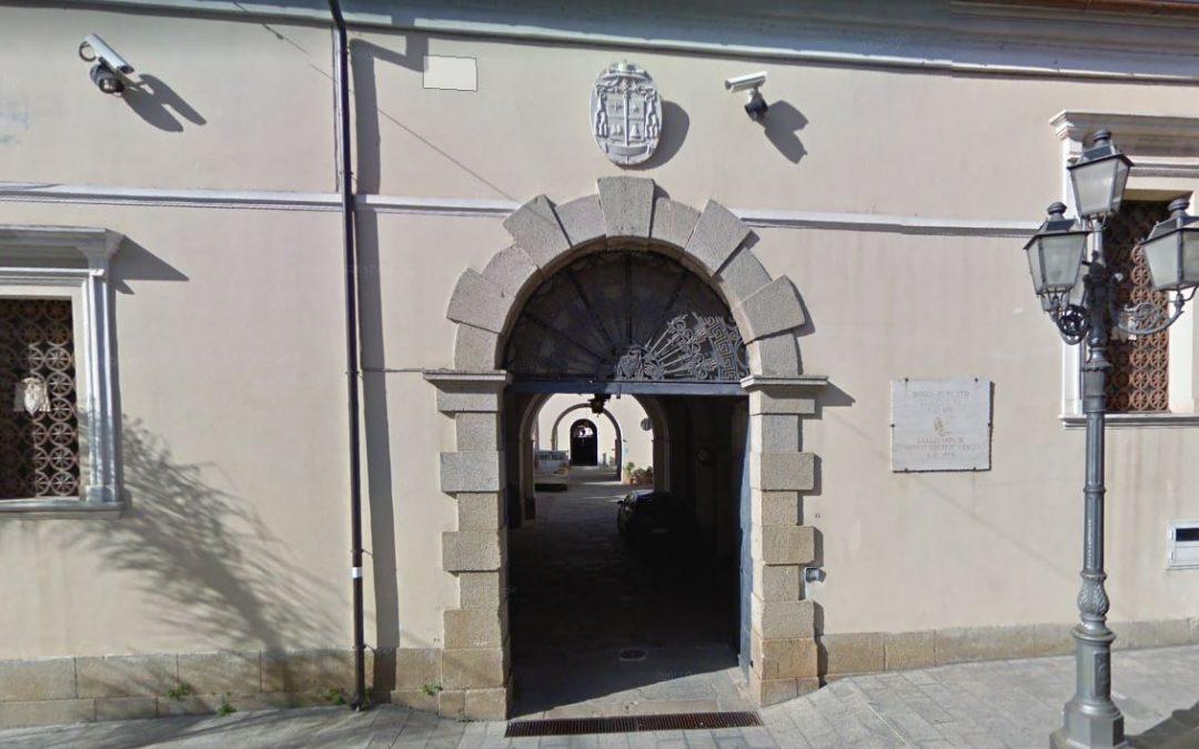 L'ingresso della curia vescovile