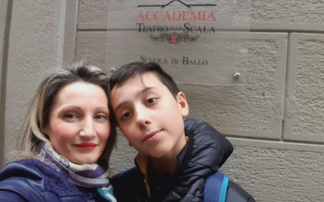Samuele Taccone con la mamma