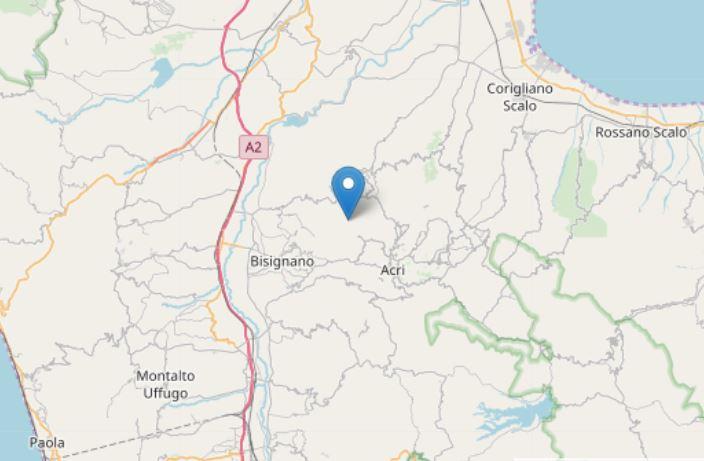 Ancora scosse di terremoto nel Cosentino  Registrati quattro sismi nell'arco di 12 ore