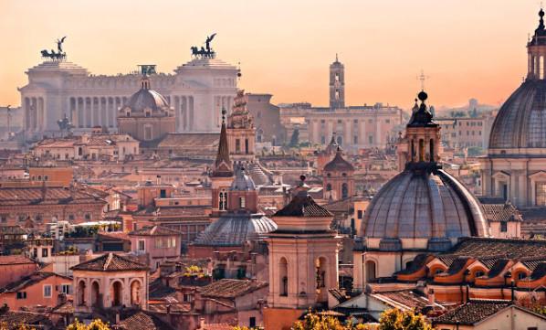 Una suggestiva veduta di Roma