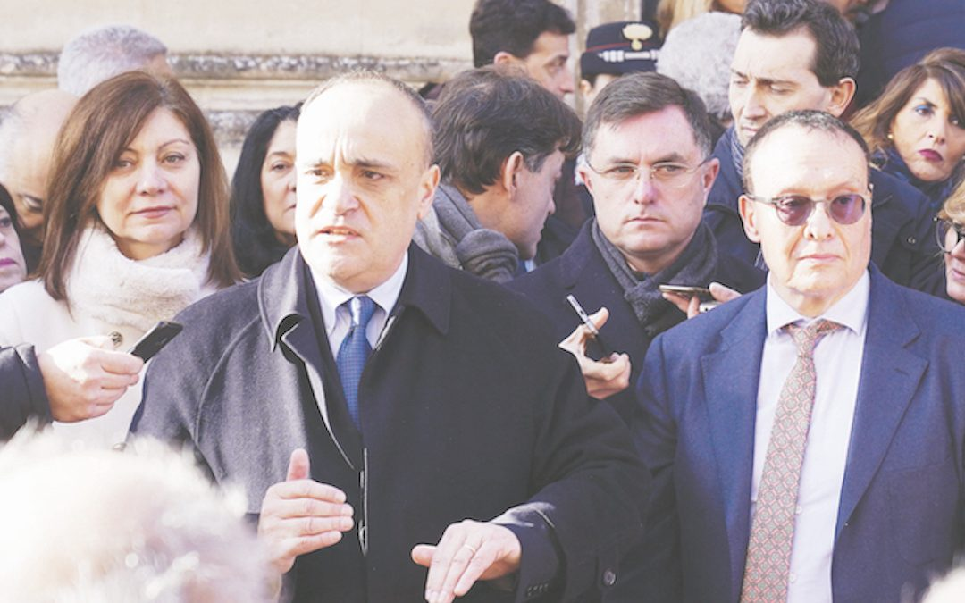 L'ex ministro Bonisoli al Museo Ridola all'inizio dell'anno da Capitale europea della cultura