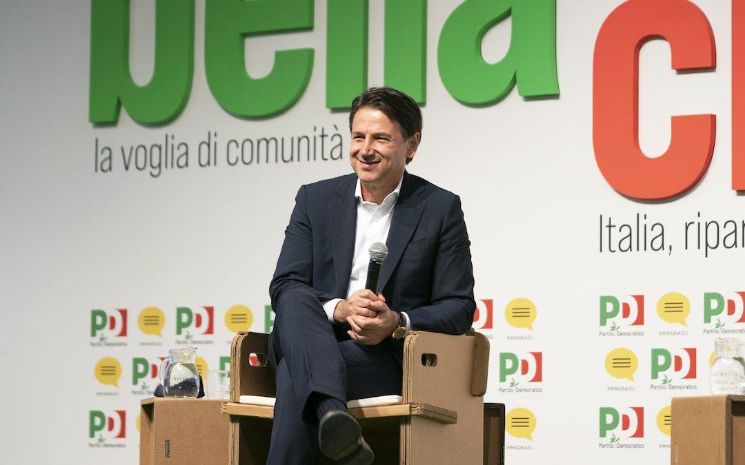 Giuseppe Conte alla Festa Nazionale dell'Unità 2020 a Modena (Foto Filippo Attili/LaPresse)