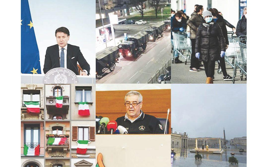 Dall'annuncio di Conte alla positività dei due turisti cinesi, al paziente zero in Lombardia, alle salme nei camion militari