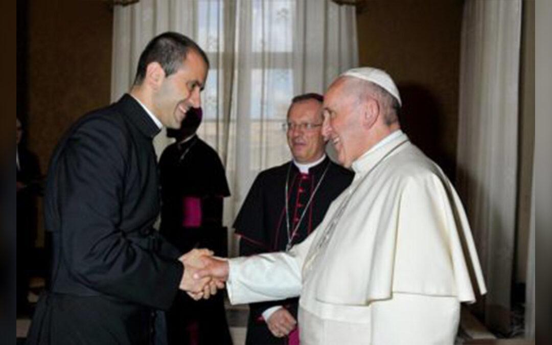 Don Fabio Salerno con Papa Bergoglio