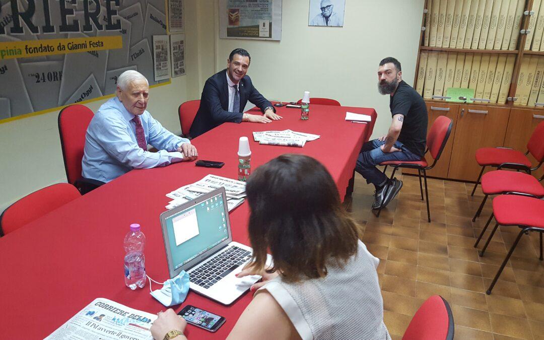 VIDEO – I forum del Quotidiano – Il sindaco di Avellino Gianluca Festa a confronto con la redazione