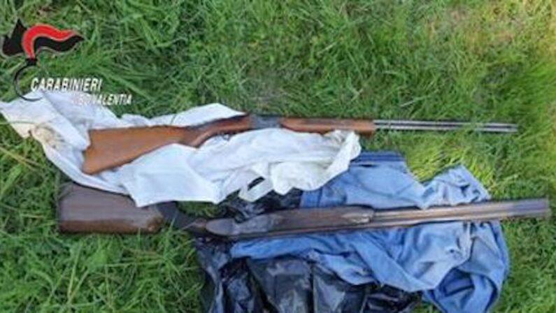 Due fucili trovati in un casolare nel Vibonese, erano stati rubati nel 2019 in Liguria