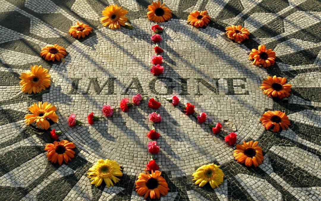 Il mosaico realizzato in Campania da artigiani della zona vesuviana e donato al New York City Council dal Comune di Napoli (AP photo/Bebeto Matthews)
