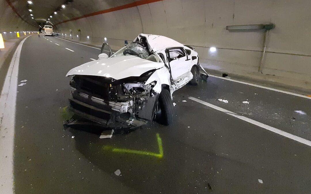 La Ford Mondeo dopo l'incidente