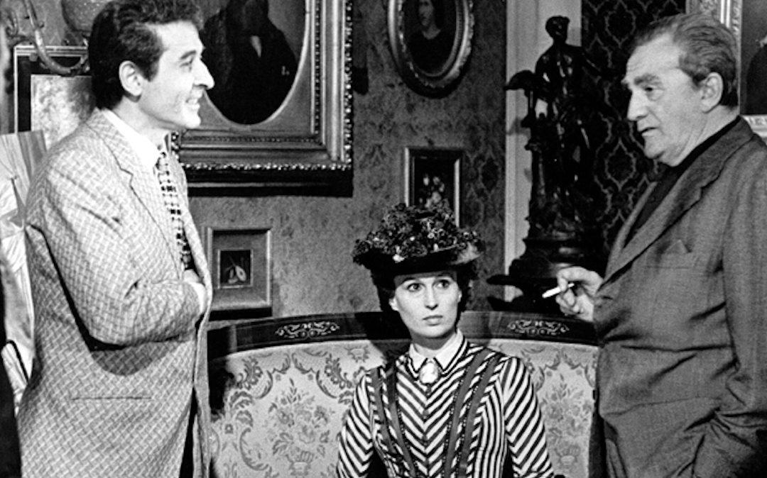 """Mario Gallo con Silvana Mangano e Luchino Visconti sul set di """"Morte a Venezia"""""""