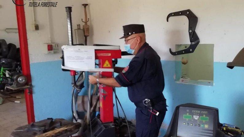 Sequestrata nel Cosentino officina non registrata, irregolare anche lo smaltimento rifiuti