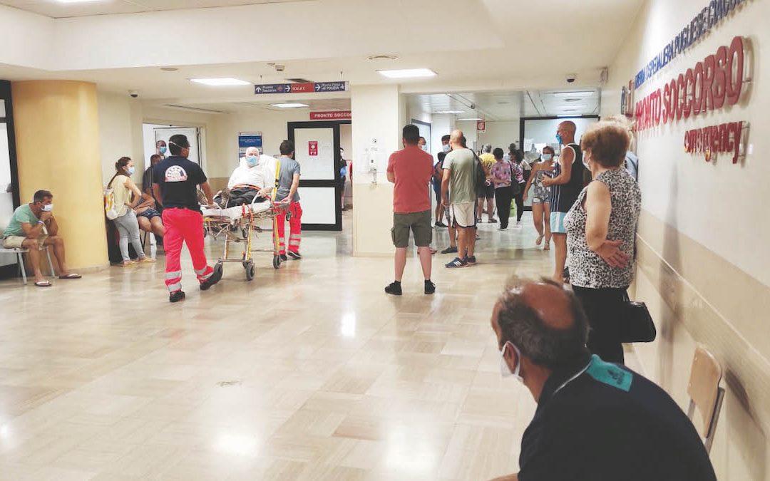 Il pronto soccorso dell'ospedale di Catanzaro