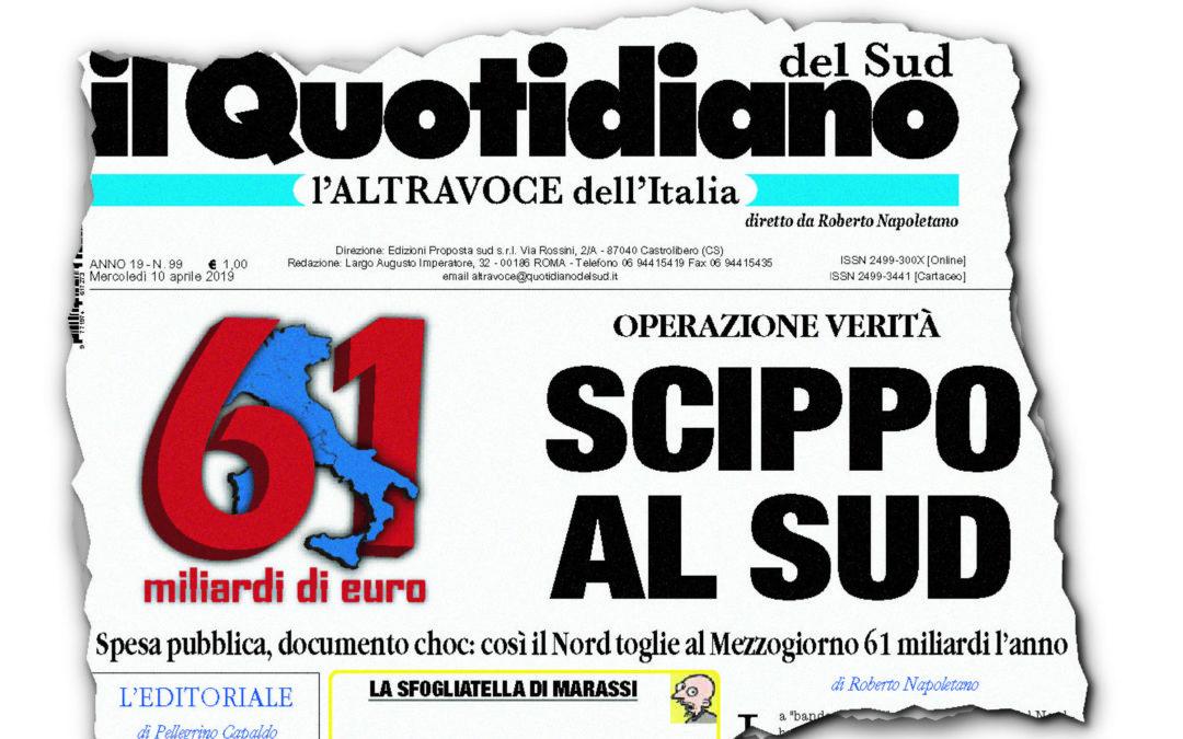 Sprechi al Nord Italia, spiccioli al Mezzogiorno  La verità dello Scippo al Sud raccontata dai numeri