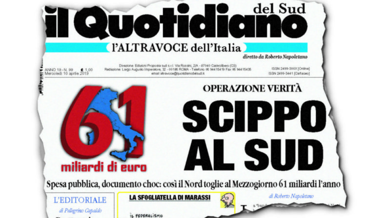 Operazione verità sulla vergogna italiana Scippo al Sud,cominciamo ad essere in tanti