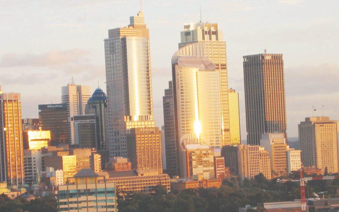 La luce dorata del tramonto su Sydney (foto di Cleto Corposanto)