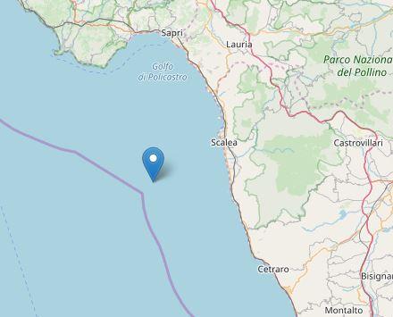 Terremoto in mare davanti alle coste del CosentinoMagnitudo 3.3 ma nessuna conseguenza né danni