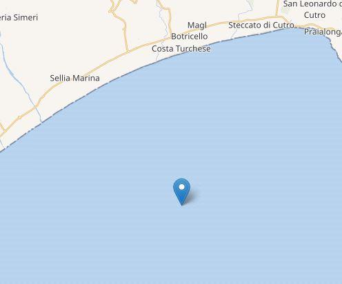 L'area dove è avvenuto il terremoto