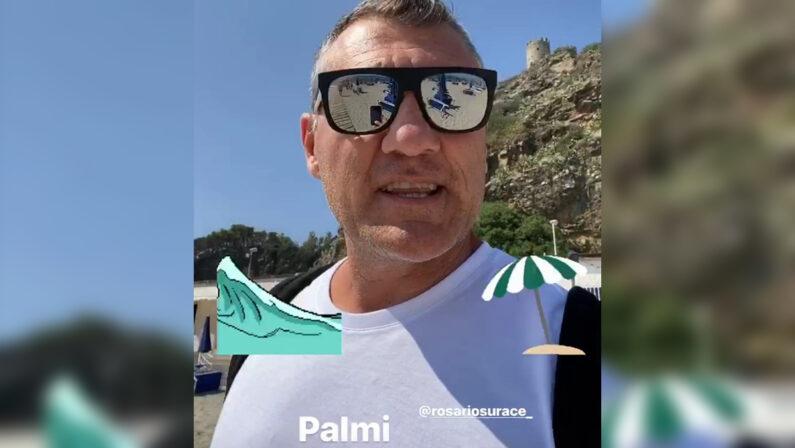 Il bomber e il mare da 10 e lode, Bobo Vieri in vacanza a Palmi