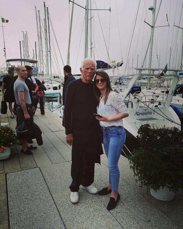 Giorgio Armani a Vibo con il suo yacht