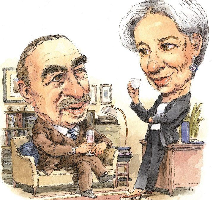 La macchina del tempo, Lord Keynes e Christine Lagarde si fanno uno champagnino al FMI