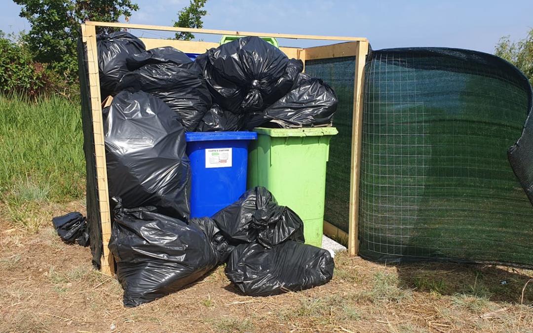 La spazzatura non raccolta