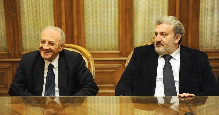 De Luca ed Emiliano, presidenti delle Regioni Campania e Puglia
